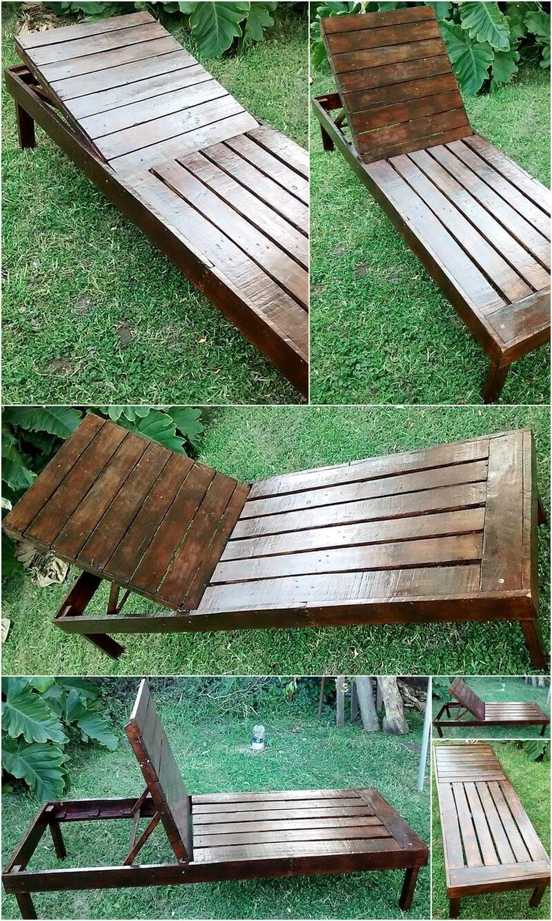 pallet patio sun lounger idea