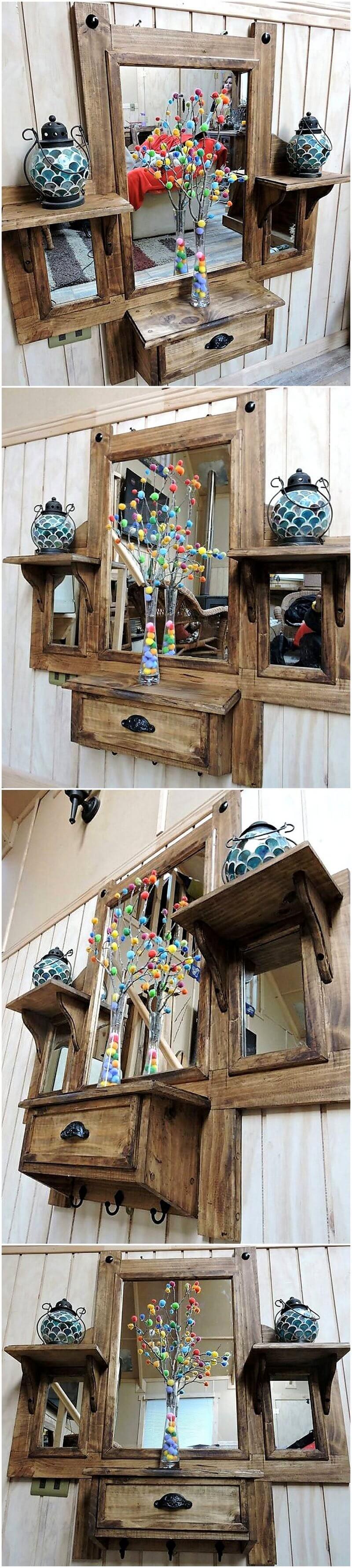 pallet rustic vanity plan