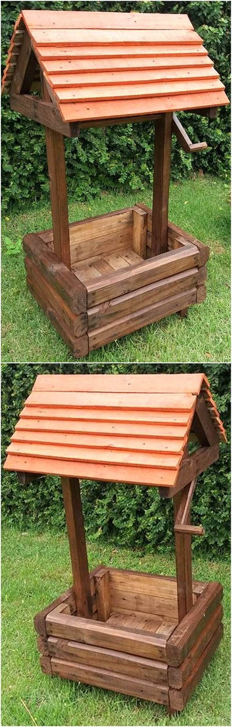 pallets garden decor wishing well