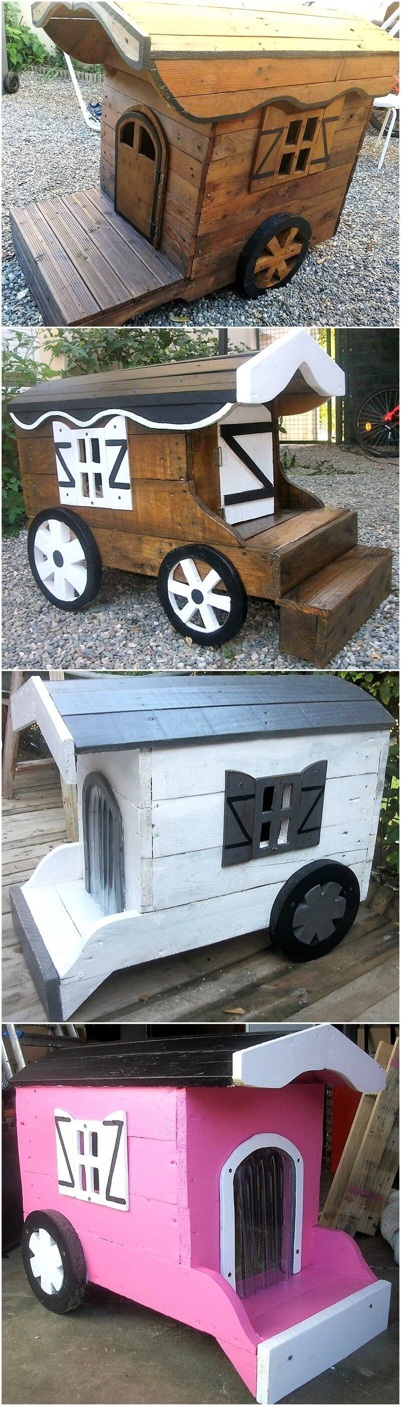 pallets wooden kids playhouses