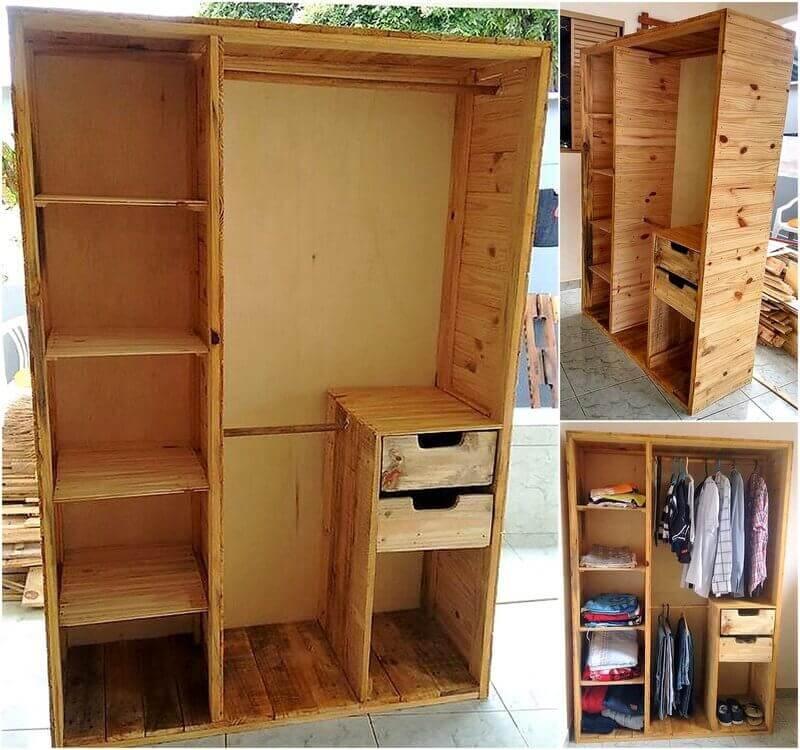 repurposed pallet wardrobe