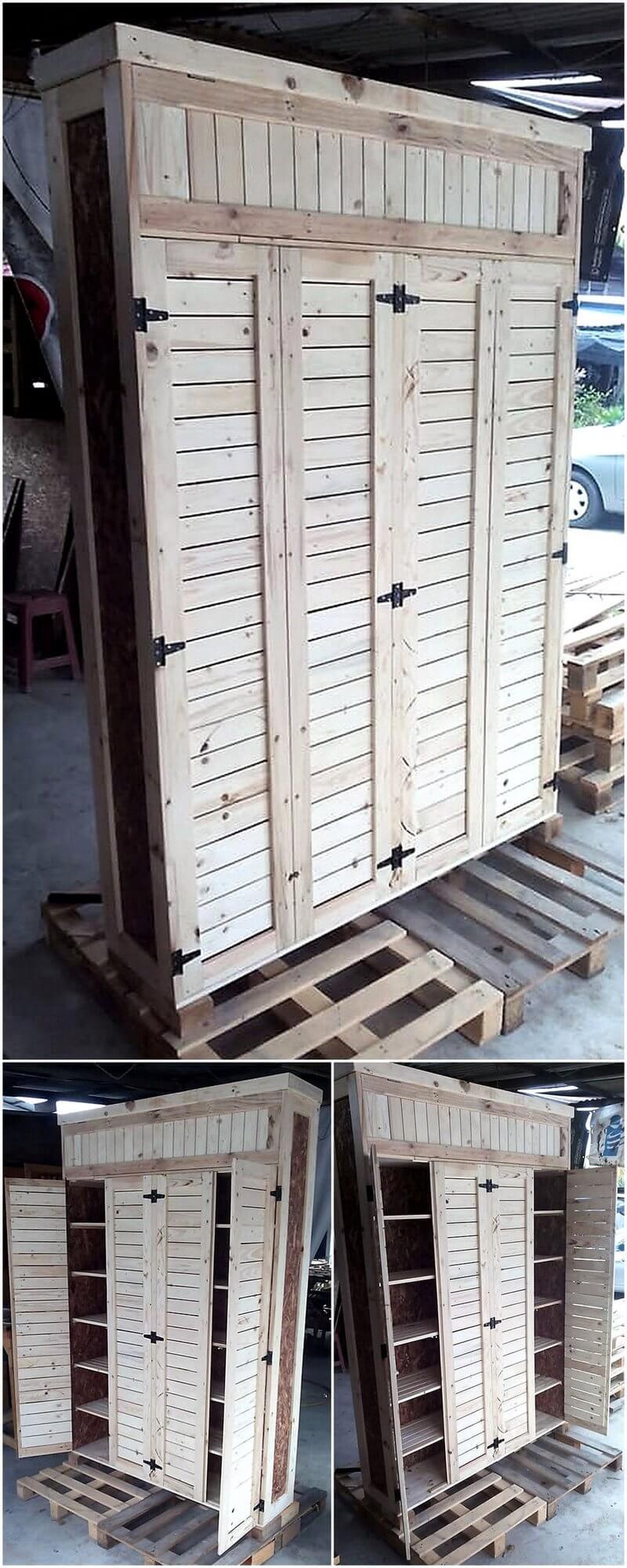 repurposed pallets closet