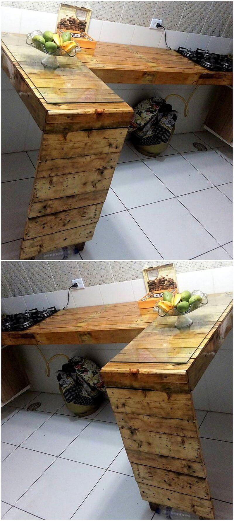 reused pallet kitchen idea