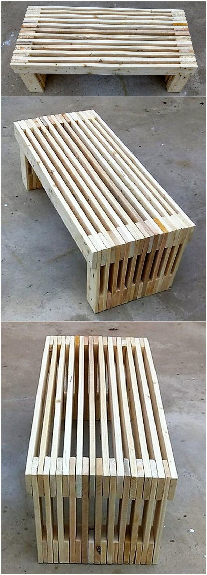 reused pallet table plan