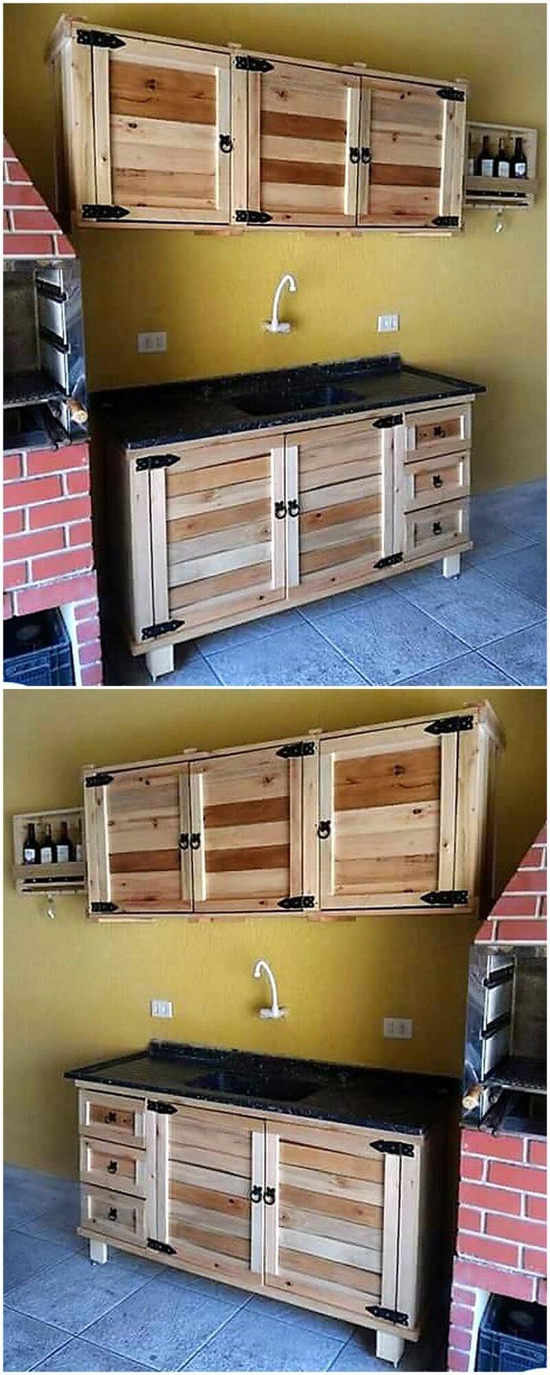 simple pallet kitchen plan