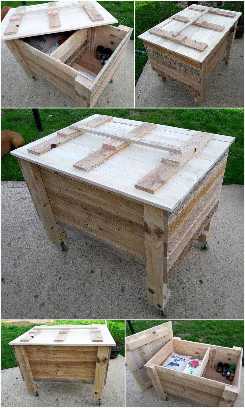 wood pallet chest plan