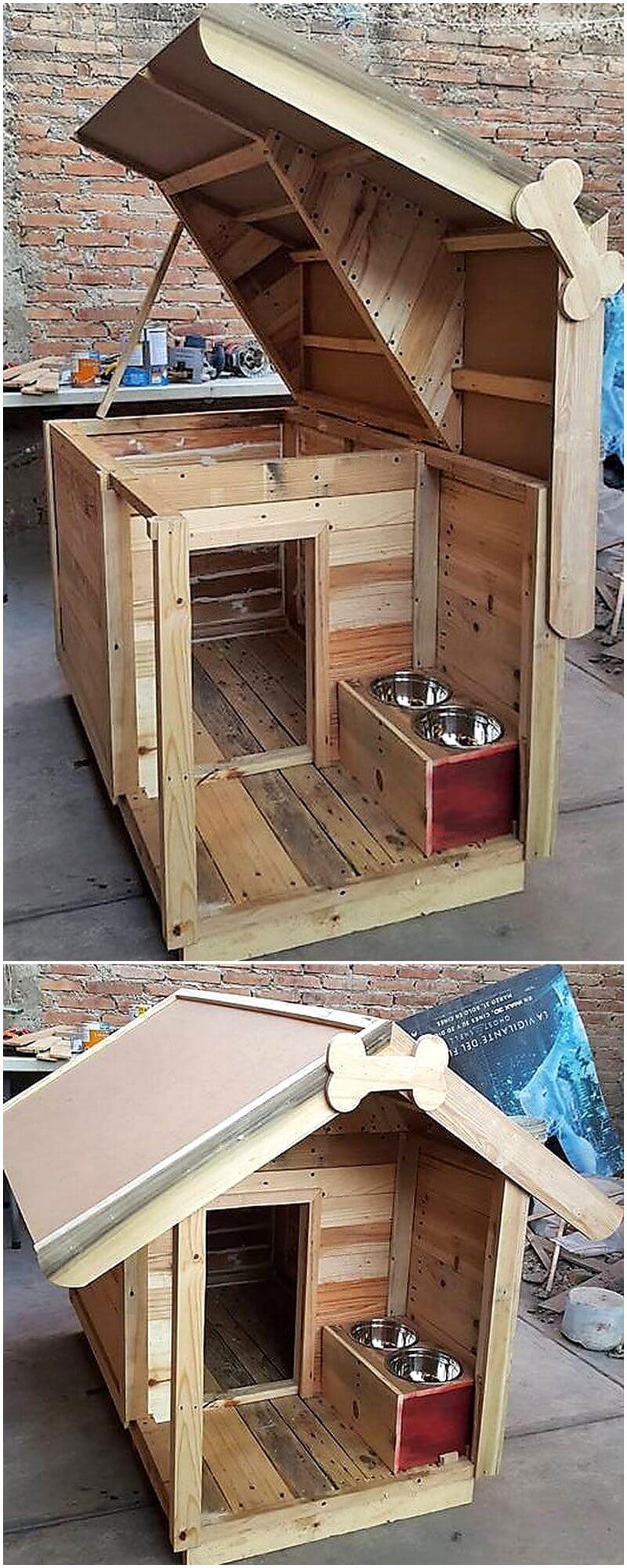 wood pallet dog house idea