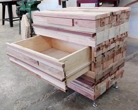 wood pallet dresser table with drawers