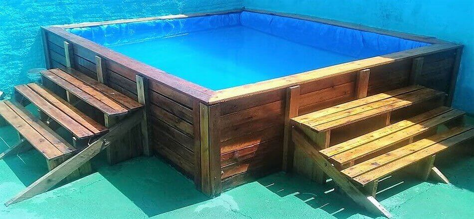 Recycled Wood Pallet Pool Project Pallet Ideas