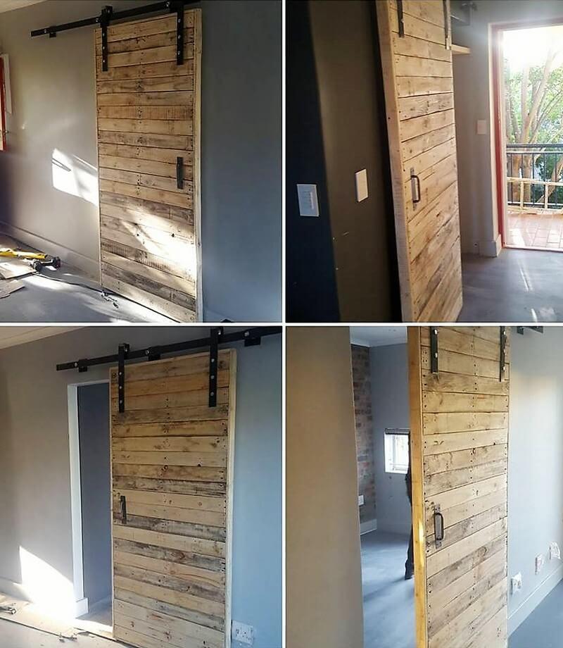 wood pallet sliding door plan