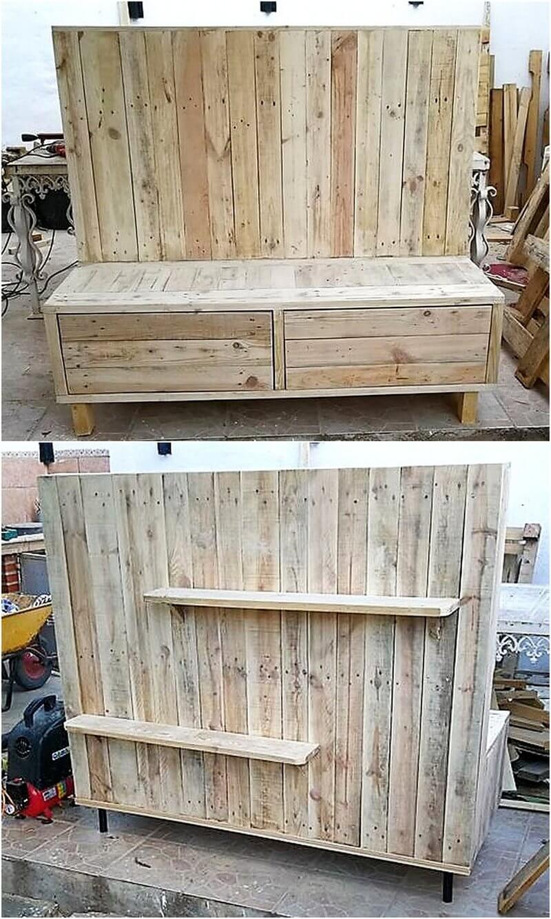 wooden pallet tv stand idea
