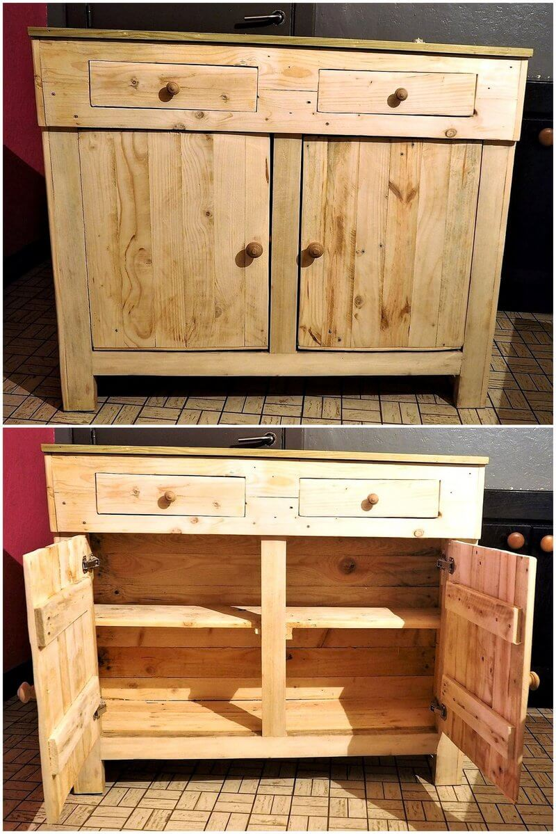 wooden pallets entryway table plan