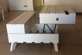 wooden pallets table