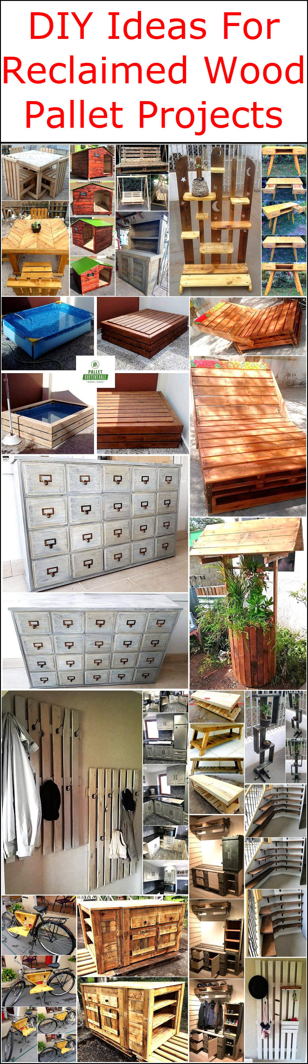 Diy Ideas For Reclaimed Wood Pallet Projects Pallet Ideas