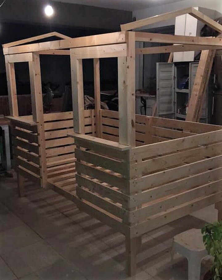 diy pallet bed house