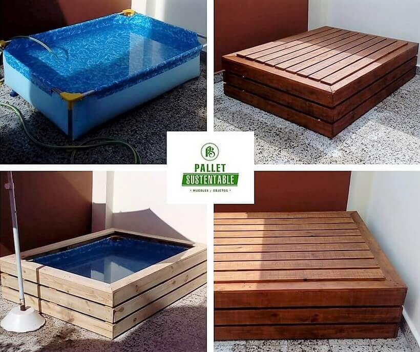diy pallet pool project - Wood Pallet Projects
