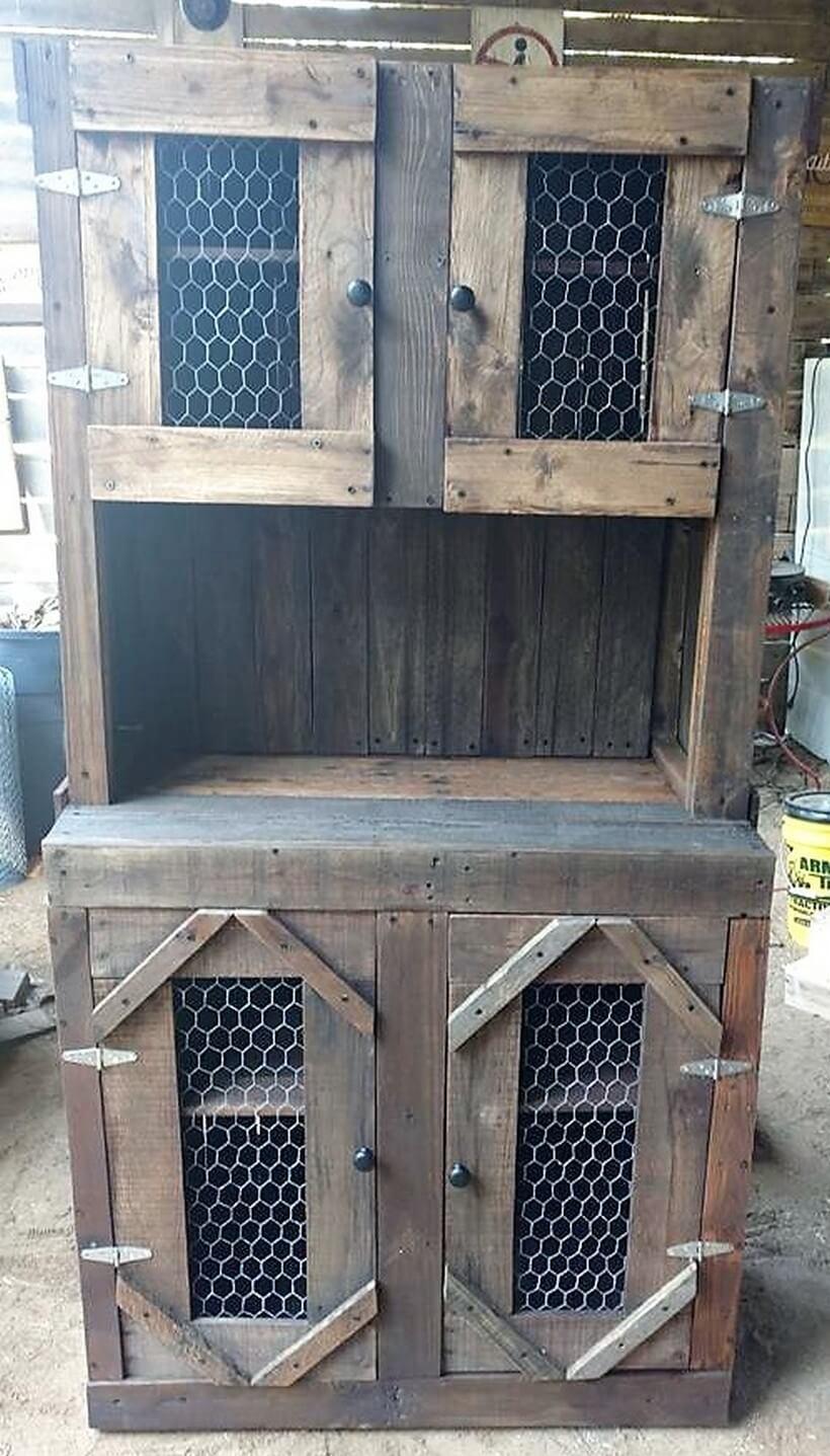 pallet wood rustic cupboard