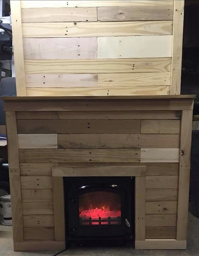 recycled pallet firebit