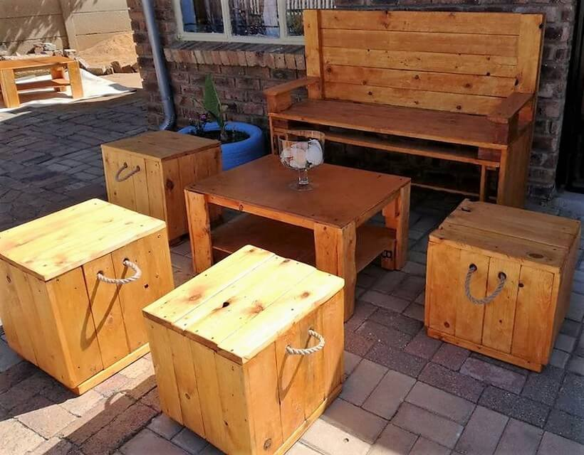 recycled pallets patio furniture