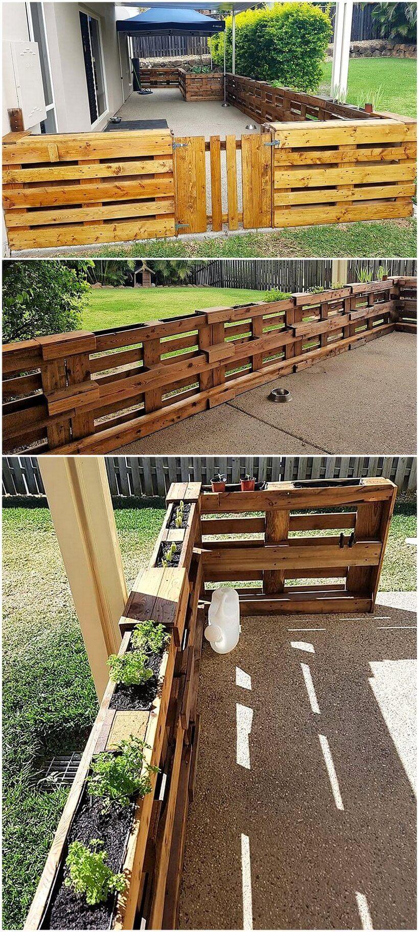 reused pallet fence