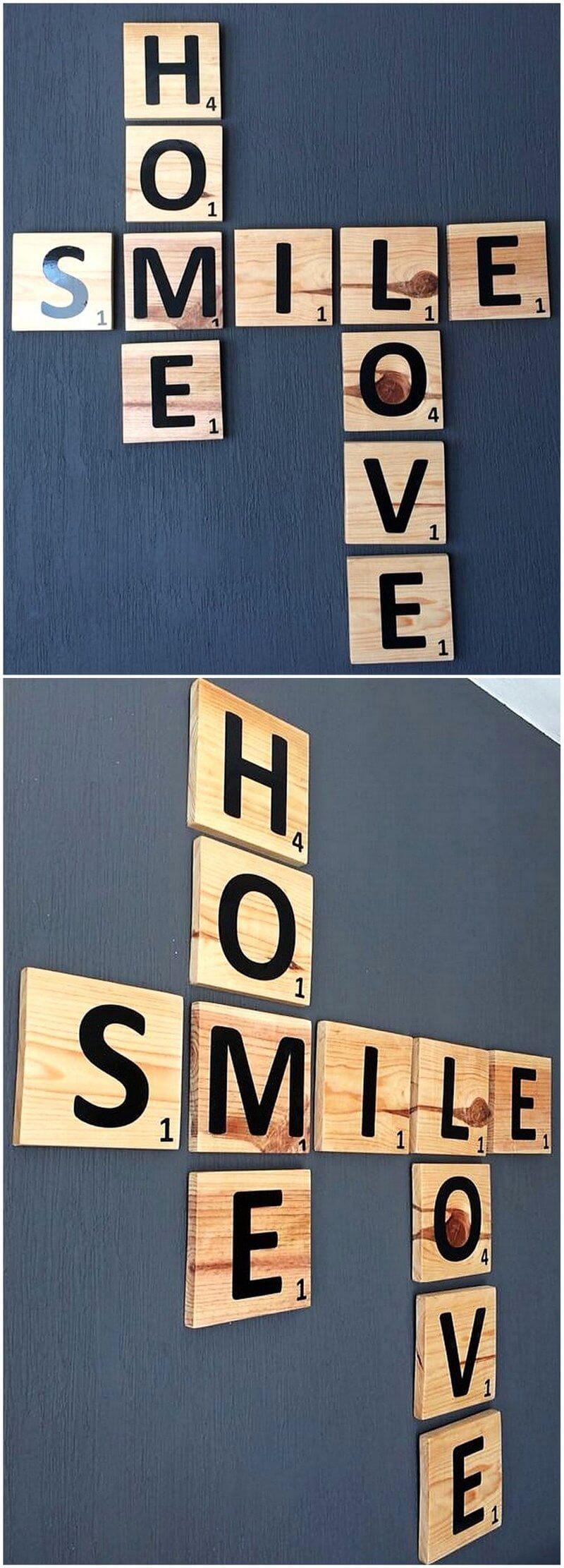 wood pallet wall sign art