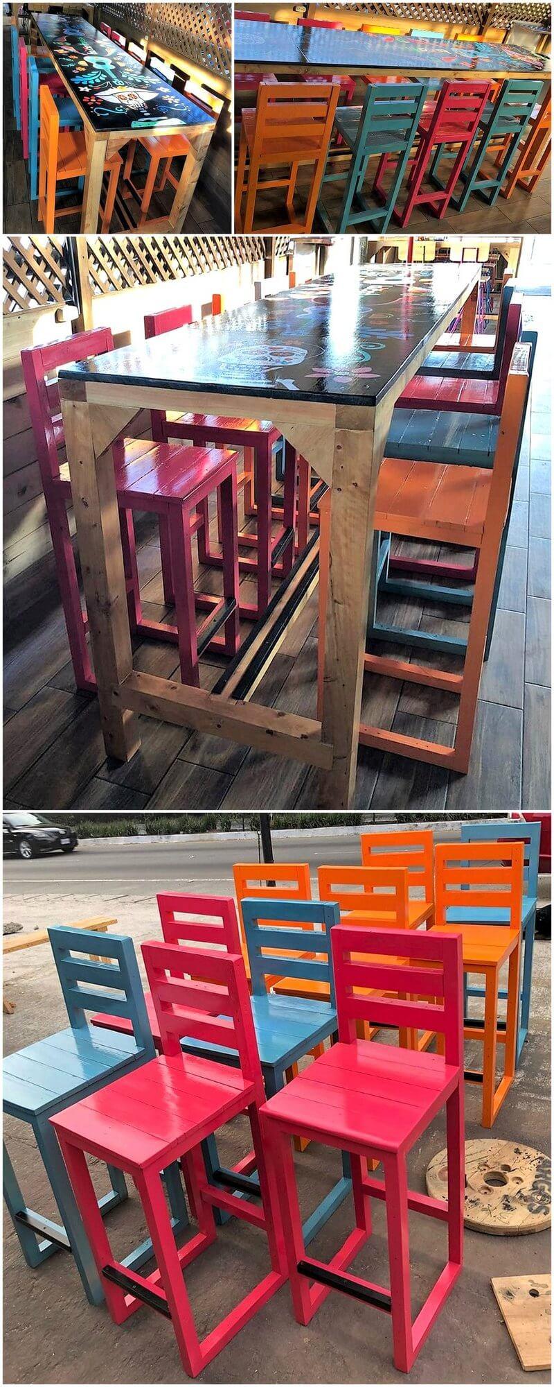 wooden pallet bar furniture