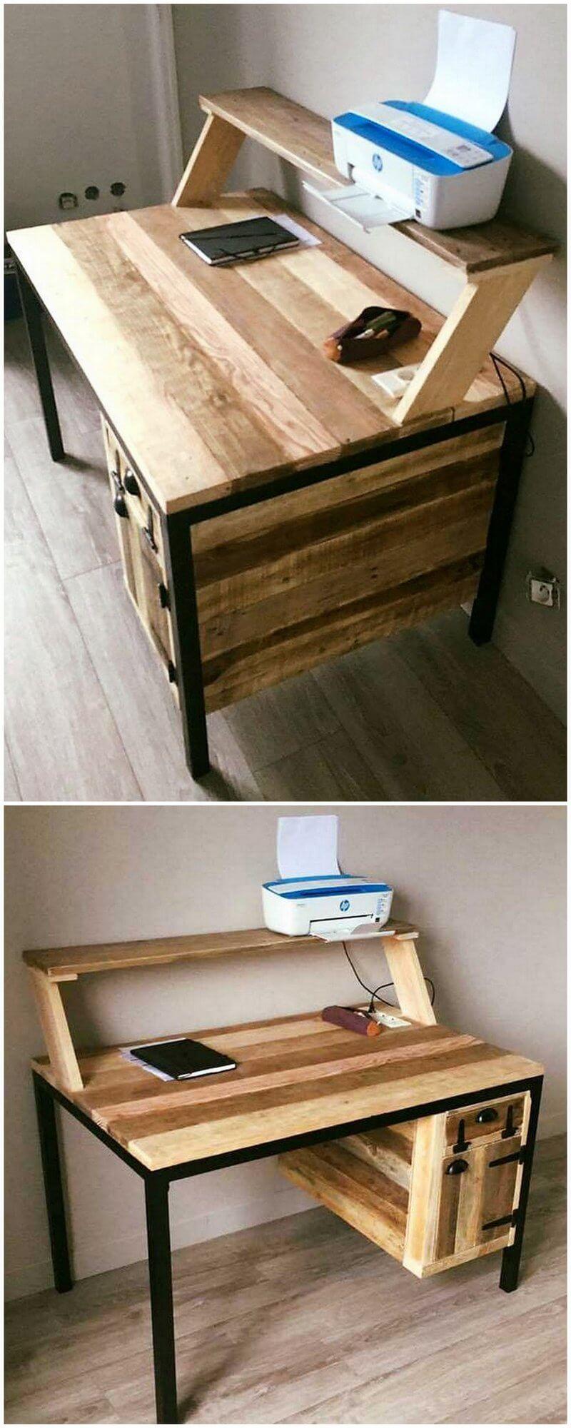 wooden pallet study desk