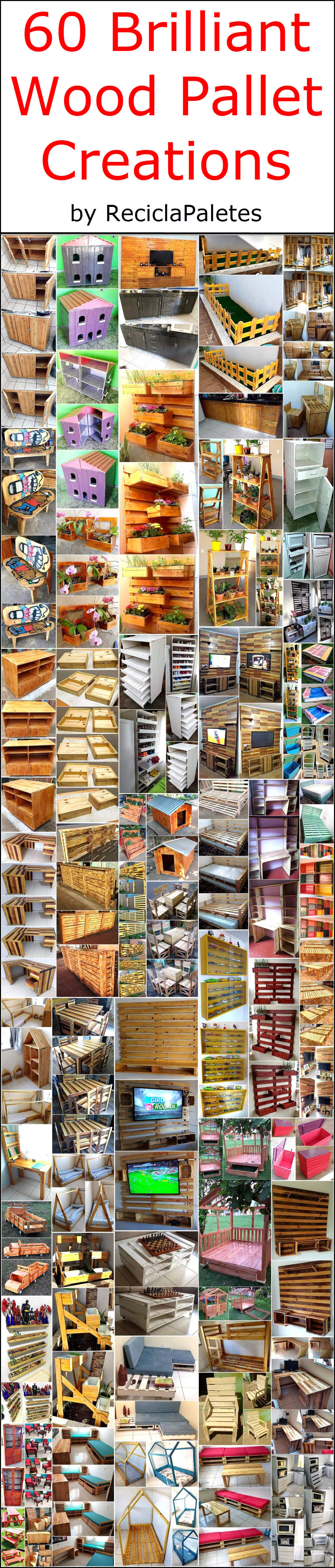 60 Brilliant Wood Pallet Creations by ReciclaPaletes