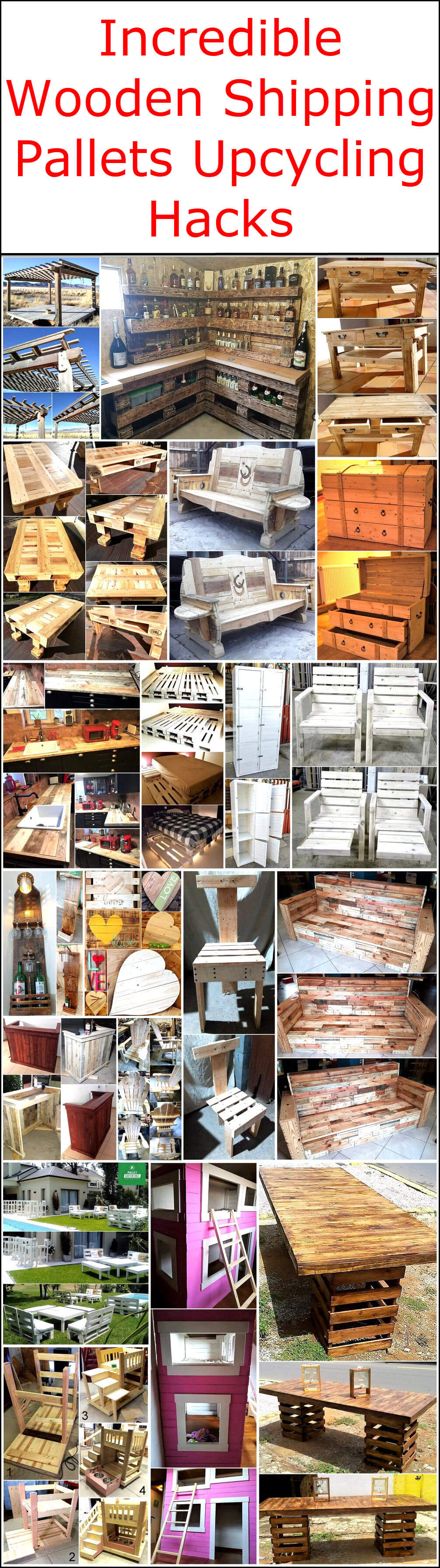 Incredible Wooden Shipping Pallets Upcycling Hacks