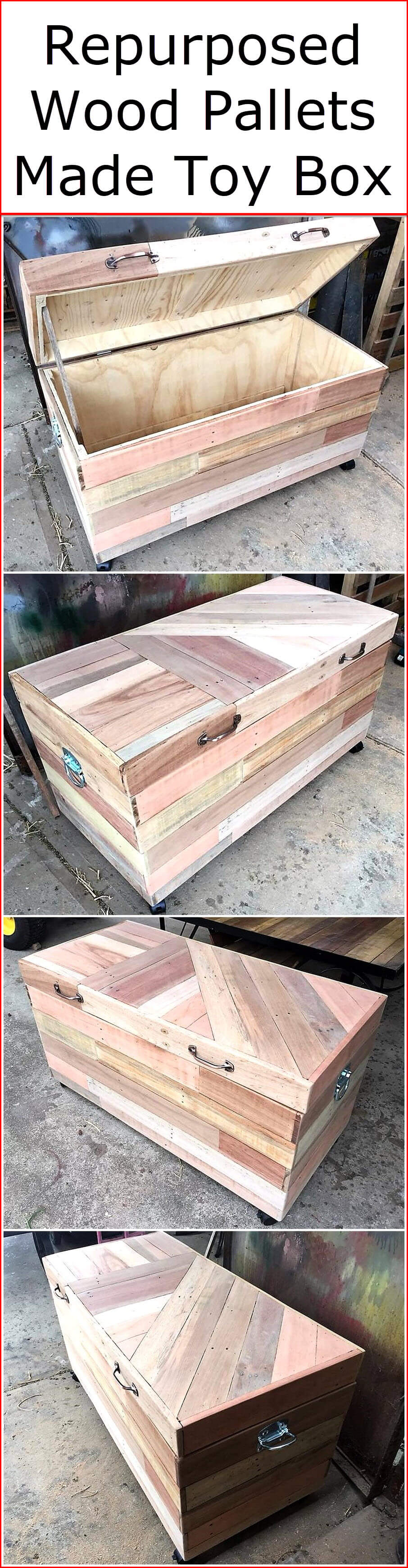 Repurposed Wood Pallets Made Toy Box Pallet Ideas
