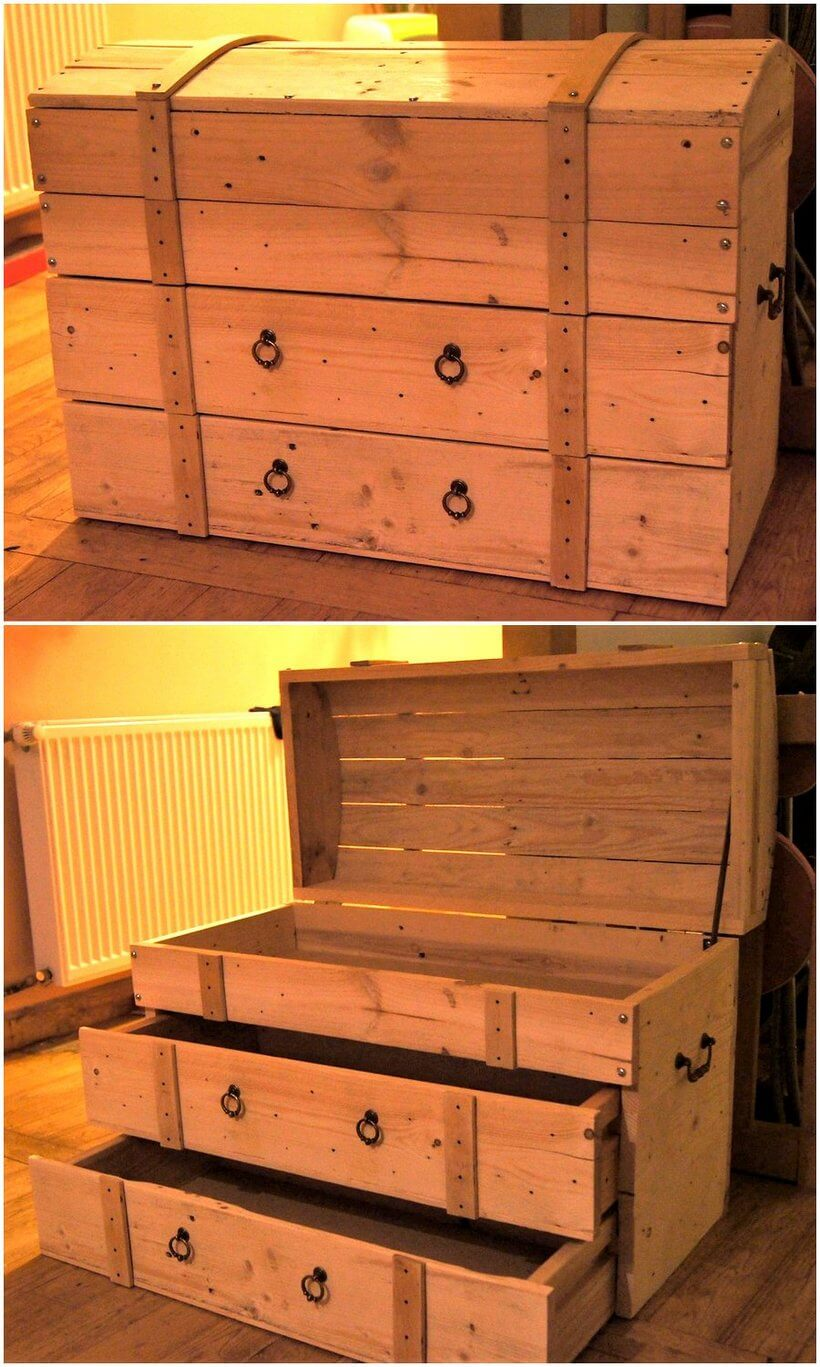 Toy Box Made with Wooden Pallets