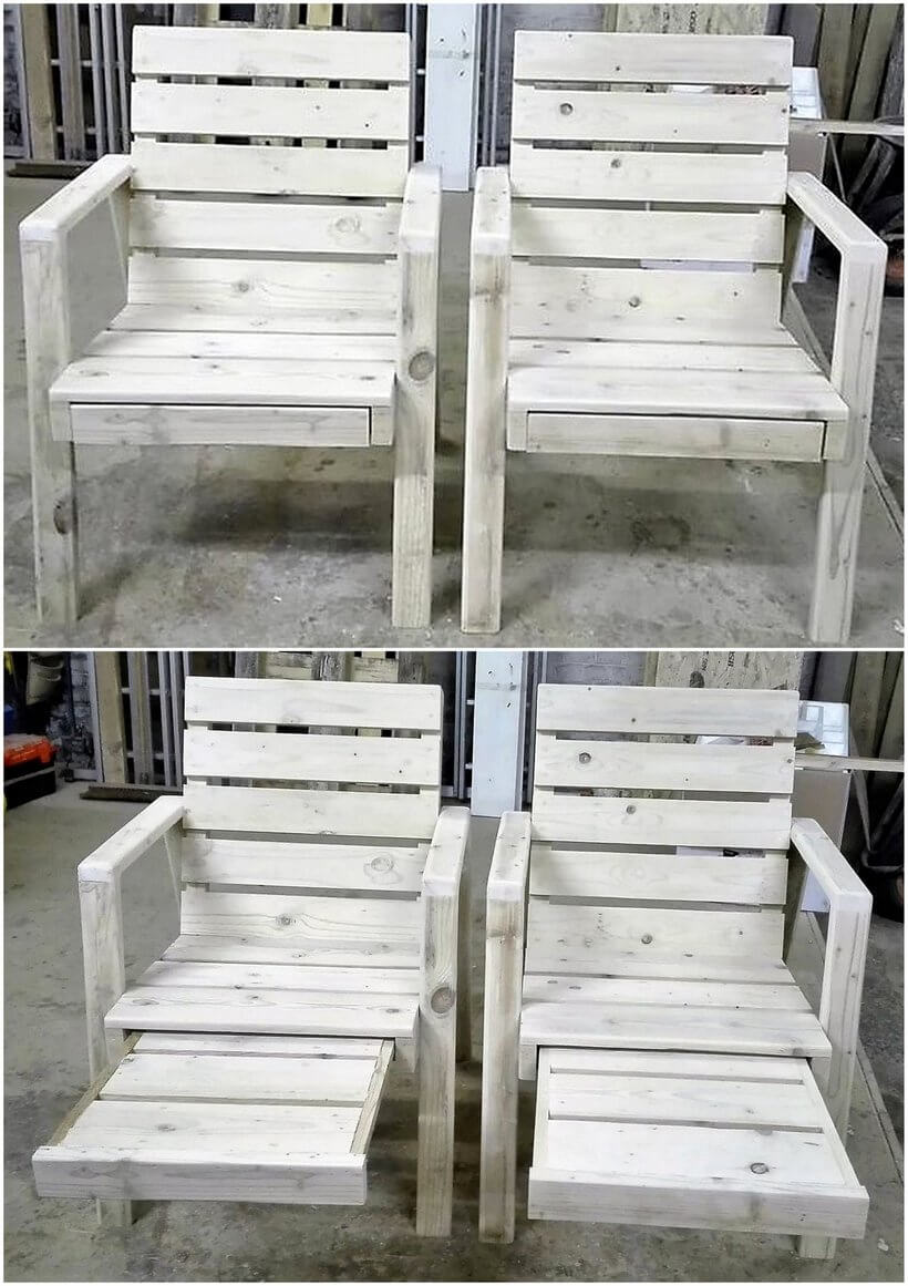 chair made with recycled pallets