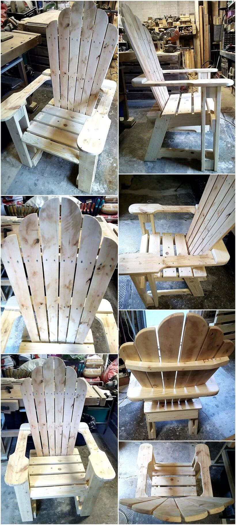 chair out of pallets