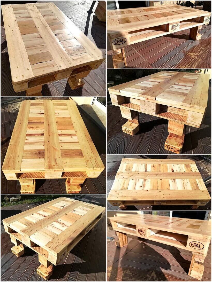 coffee table out of wooden pallet