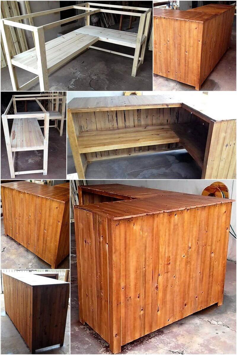 diy pallet wood bar plan