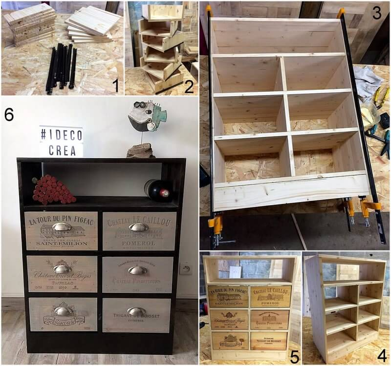 diy wood pallet entryway table with drawers