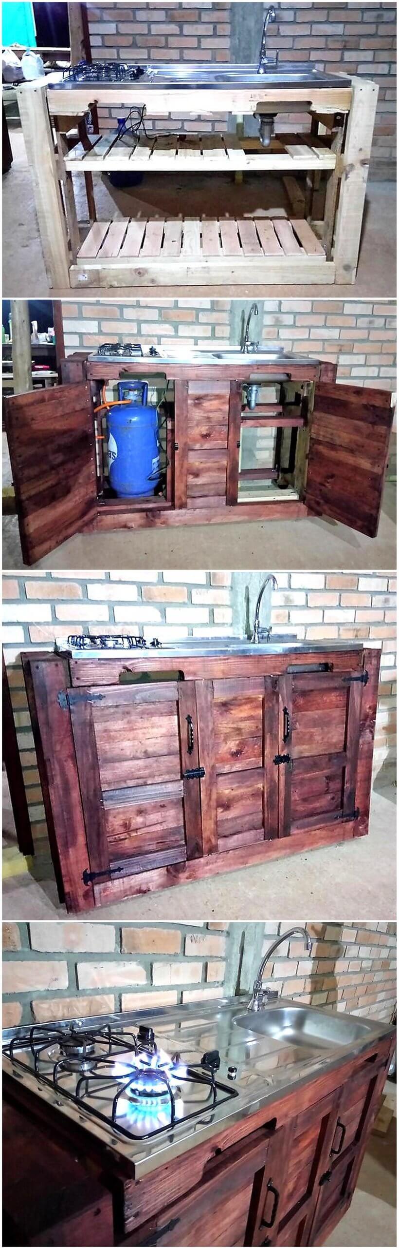 diy wooden pallet kitchen idea