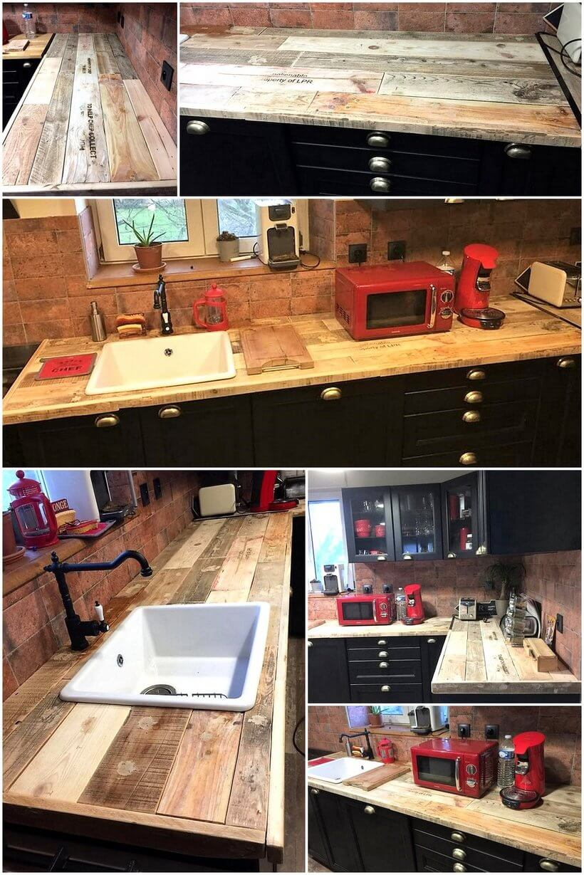 kitchen out of pallets