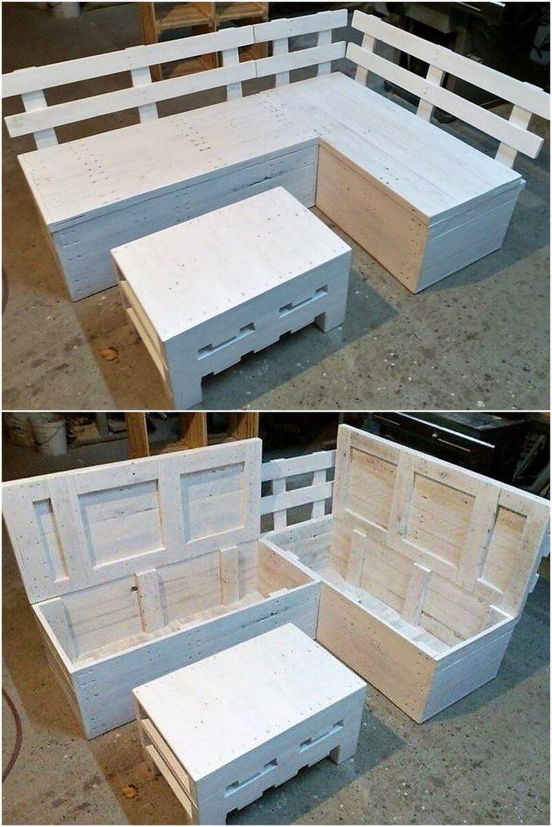 pallet corner sofa with storage