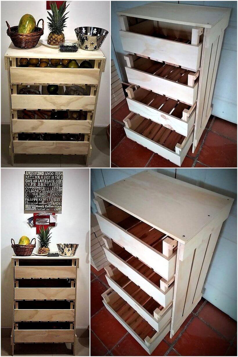 pallet fruit and vegitable storage rack