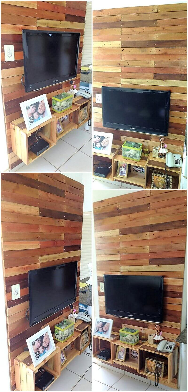 pallet lcd wall