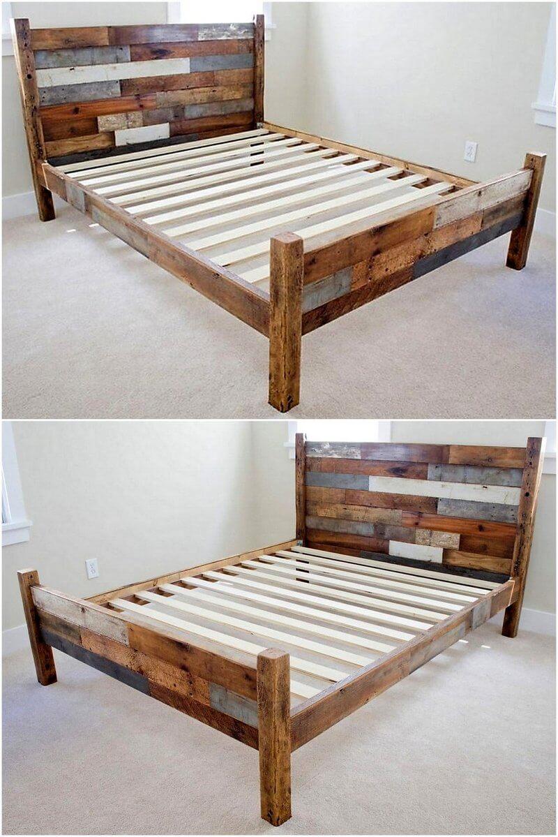 pallet rustic bed frame
