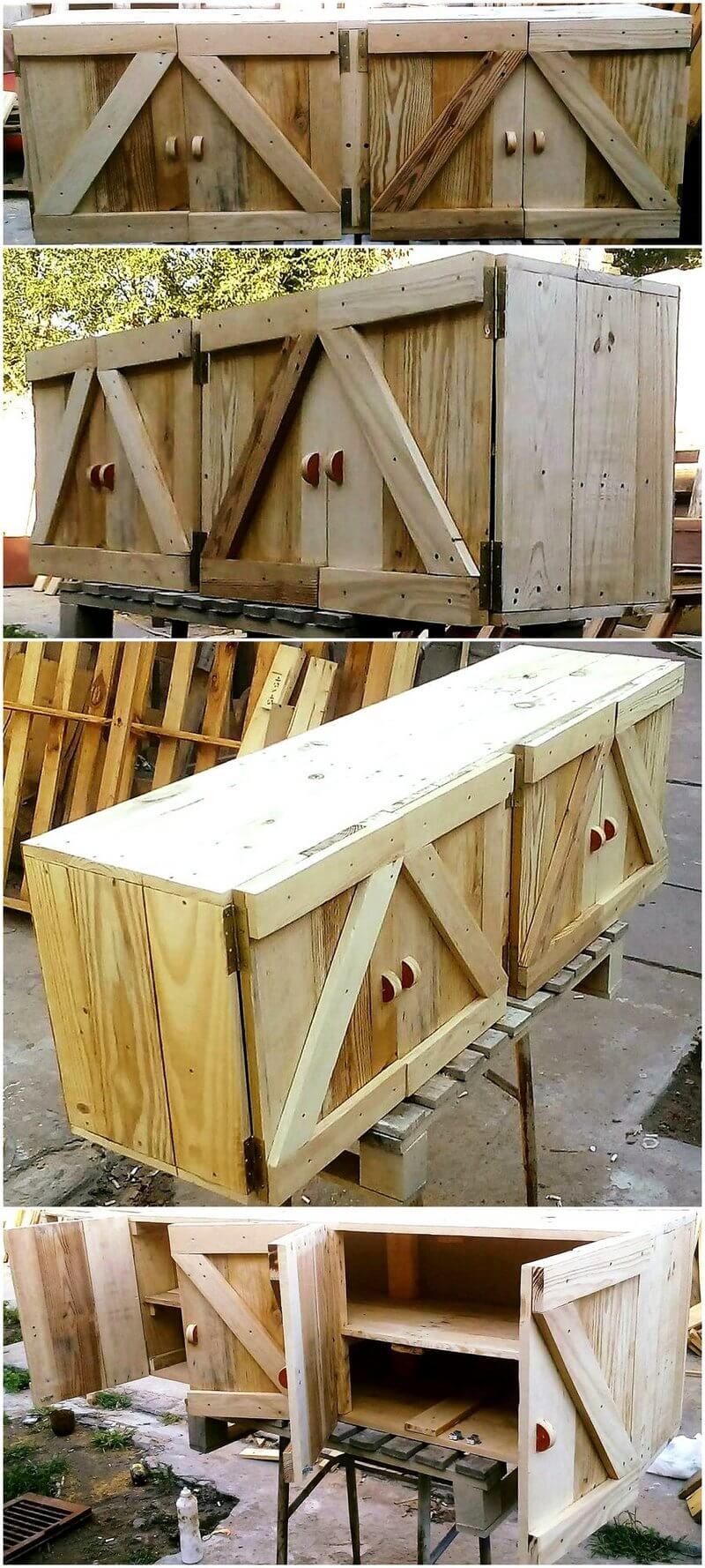 pallet rustic kitchen cabinets