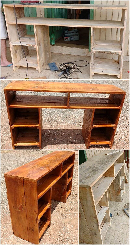 pallet rustic shelving cabinet