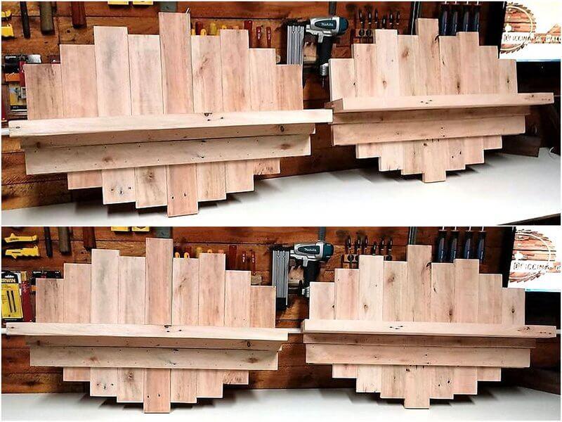 pallet shelf art