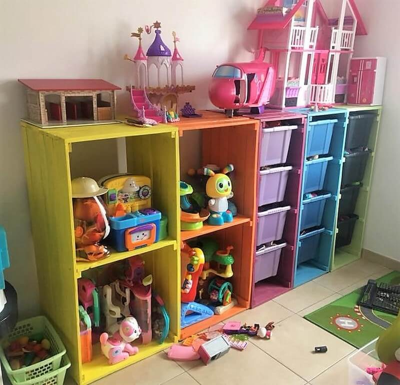 pallet shelving for kids