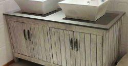 pallet sink cabinet
