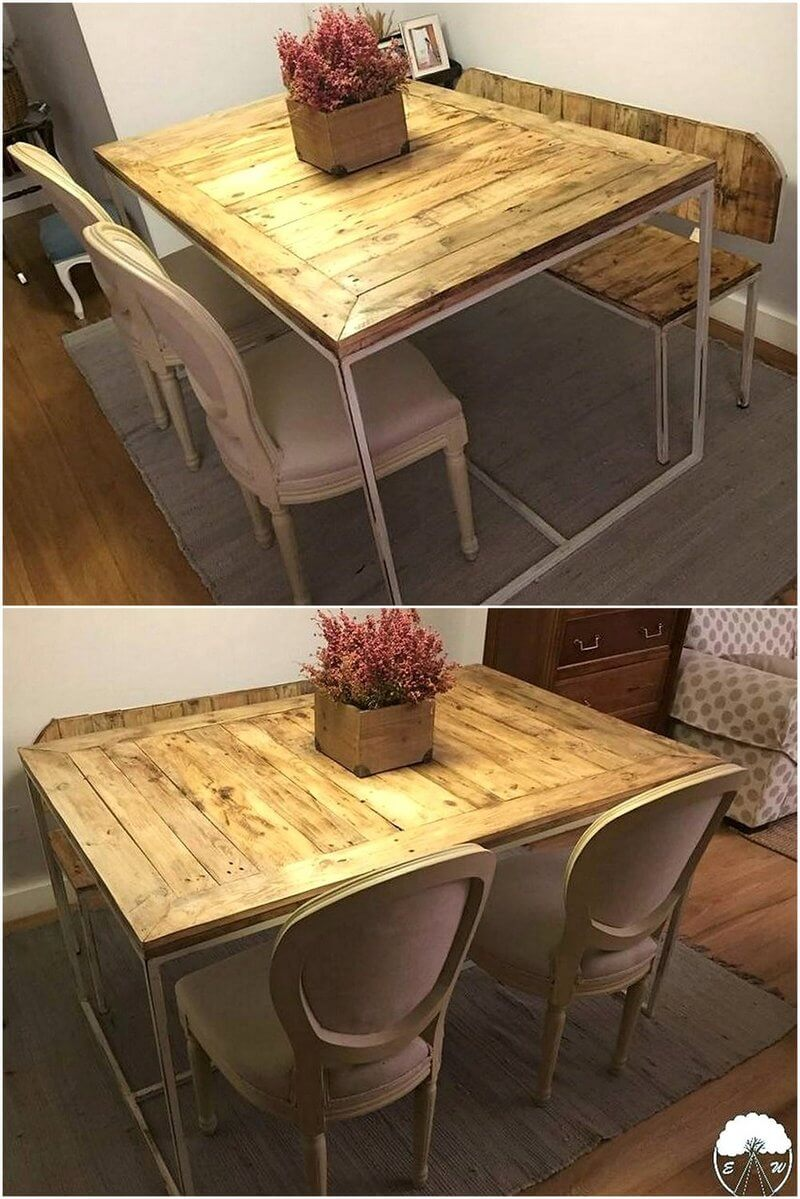 pallet wooden table idea