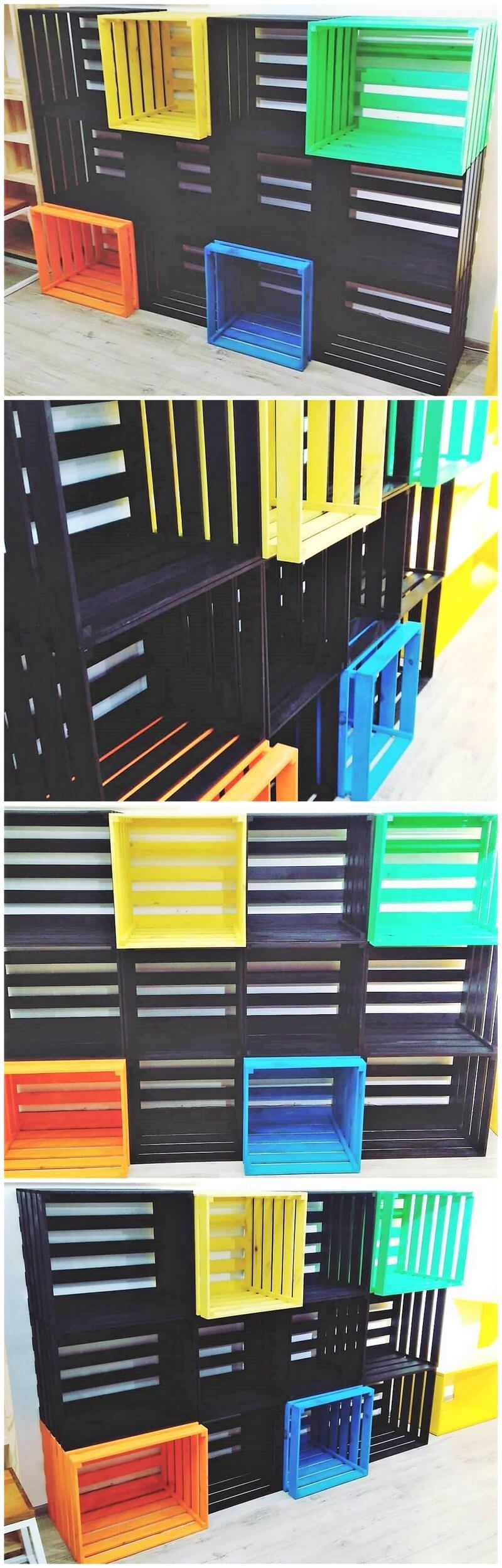 pallets fruit crates shelving