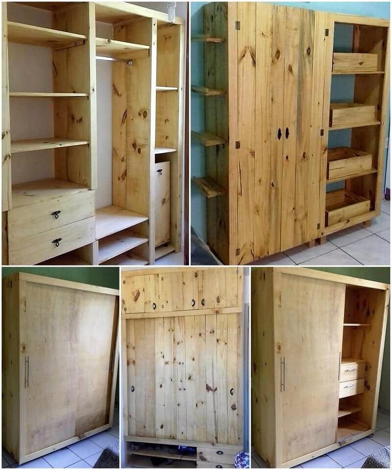 pallets wardrobe and closet ideas